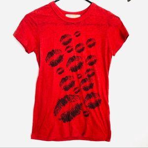 Vintage Lips Kiss Tee Shirt